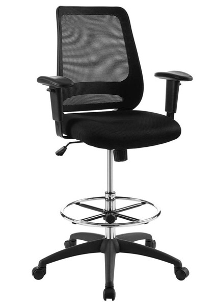 Modway Furniture Forge Black Mesh Drafting Chair EEI-3196-BLK
