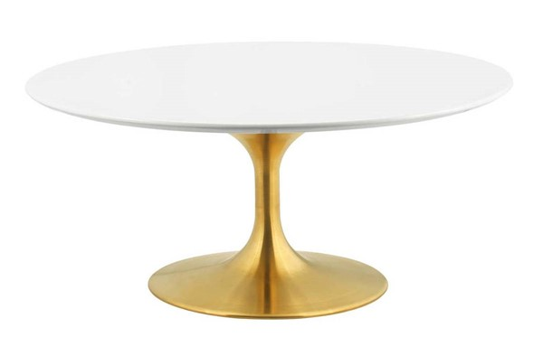 Modway Furniture Lippa Gold White 36 Inch Coffee Table EEI-3250-GLD-WHI