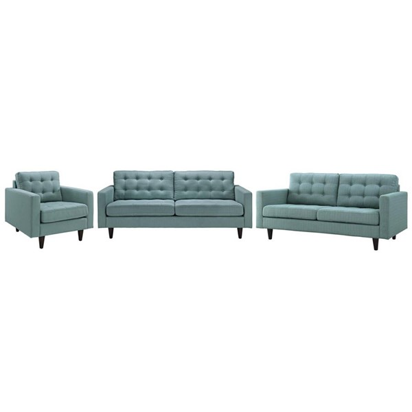 Modway Furniture Empress Laguna 3pc Living Room Set EEI-3316-LAG