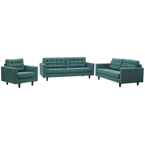 Modway Furniture Empress Teal 3pc Living Room Set EEI-3316-TEA