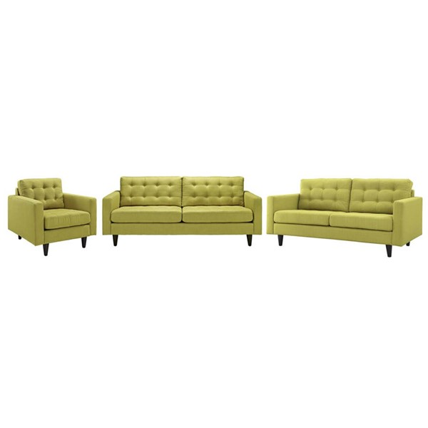 Modway Furniture Empress Wheatgrass 3pc Living Room Set EEI-3316-WHE