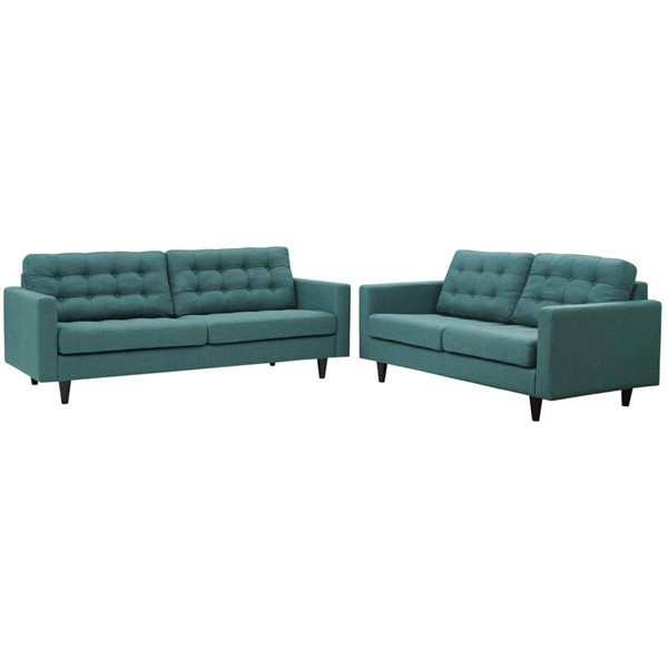 Modway Furniture Empress Teal Sofa and Loveseat Set EEI-3317-TEA