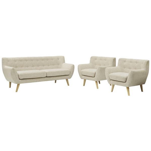 Modway Furniture Remark Beige 3pc Living Room Set EEI-3322-BEI-SET