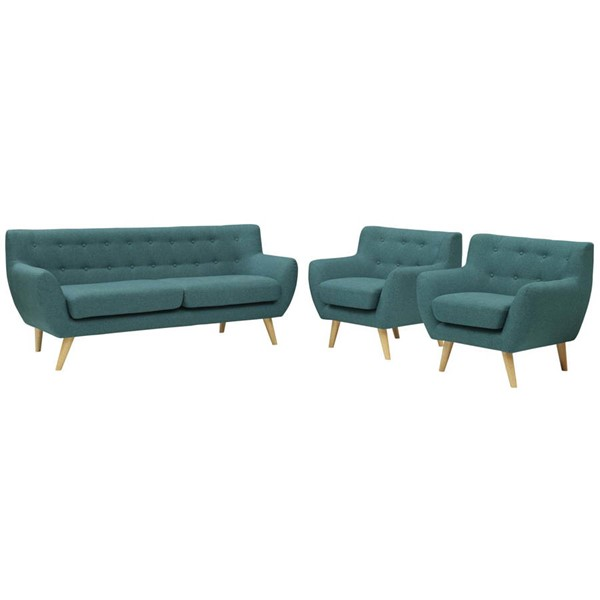 Modway Furniture Remark Teal 3pc Living Room Set EEI-3322-TEA-SET