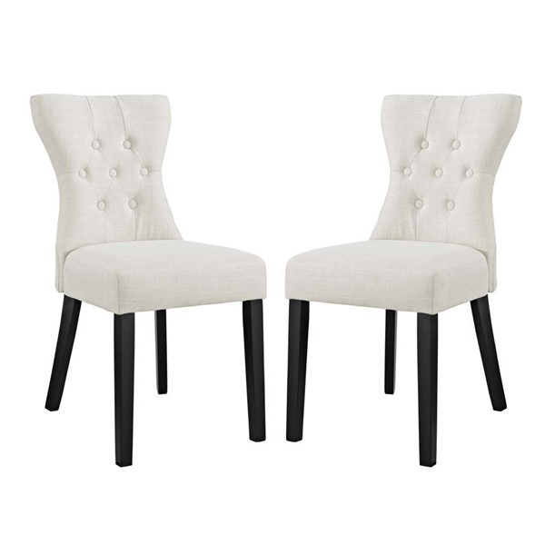 Modway Furniture Silhouette Beige Fabric Dining Side Chairs EEI-3327-DCH-VAR