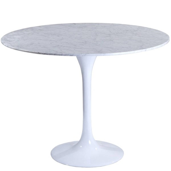 Modway Furniture Lippa 36 Inch Marble Dining Table EEI-514-WHI
