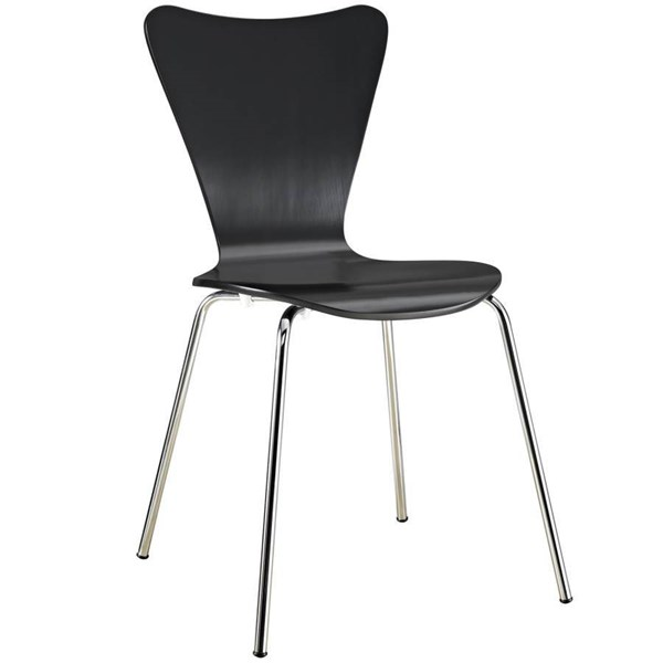 Plywood And Veneer Seat With Aluminium Legs Ernie Dinette Chair EEI-537