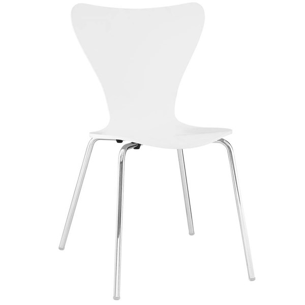 Modway Furniture Ernie White Dining Side Chair EEI-537-WHI