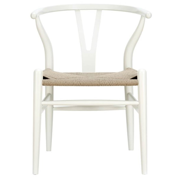 Amish Transitional White Solid Wood Dining Chair EEI-552-WHI