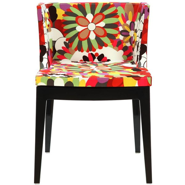 Polyurethane Cushion With Cotton Upholstery Flower Accent Chair EEI-553