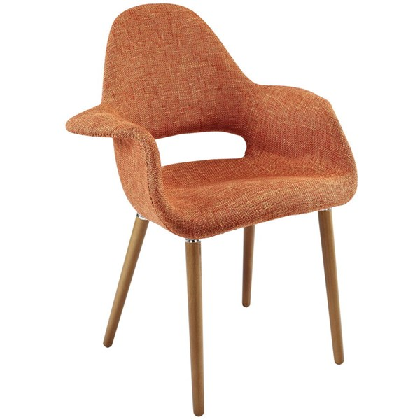 Aegis Modern Orange Fabric Wood Dining Armchair EEI-555-ORA