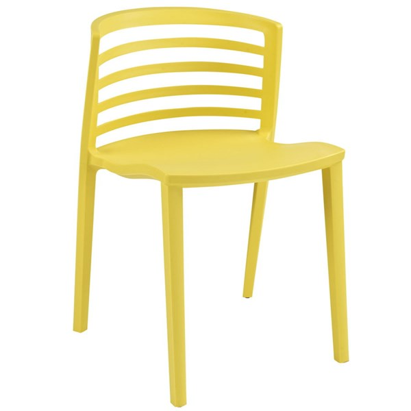 Curvy Contemporary Yellow PP Plastic Dining Side Chair EEI-557-YLW