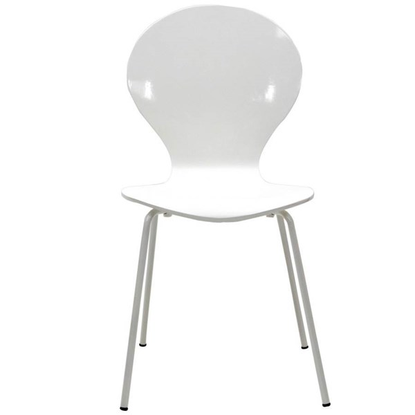 White Oak Plywood Seat With Aluminium Legs Insect Dinette Chair EEI-574-WHI