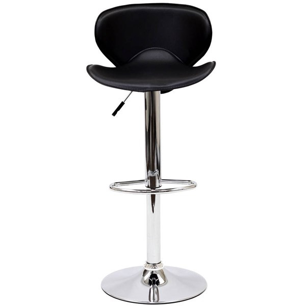 Modway Furniture Booster Black Bar Stool EEI-580-BLK