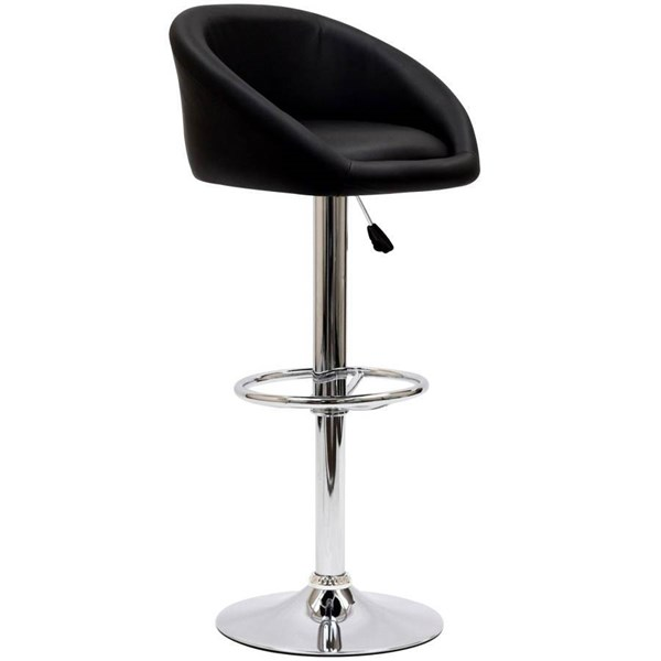 Leatherette With Chrome Plated Steel Base Marshmallow Bar Stool EEI-583
