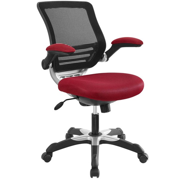 Modway Furniture Edge Red Mesh Office Chair EEI-594-RED