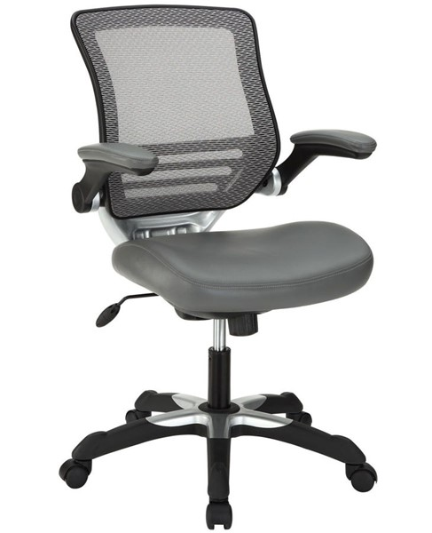 Modway Furniture Edge Gray Vinyl Office Chair EEI-595-GRY