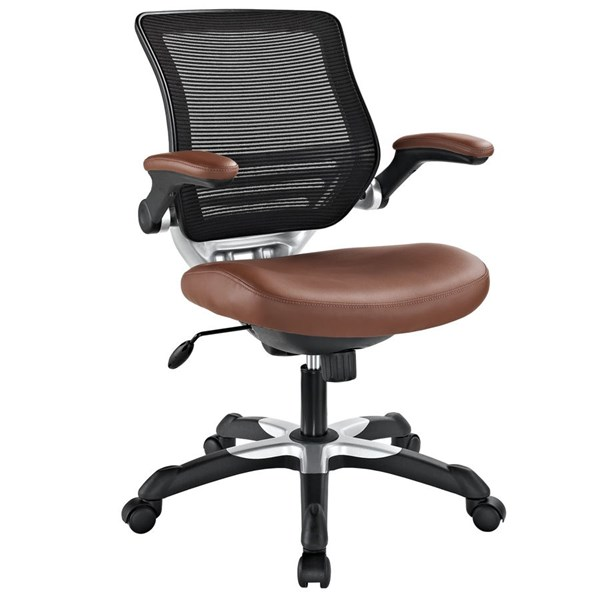 Modway Furniture Edge Tan Vinyl Office Chair EEI-595-TAN