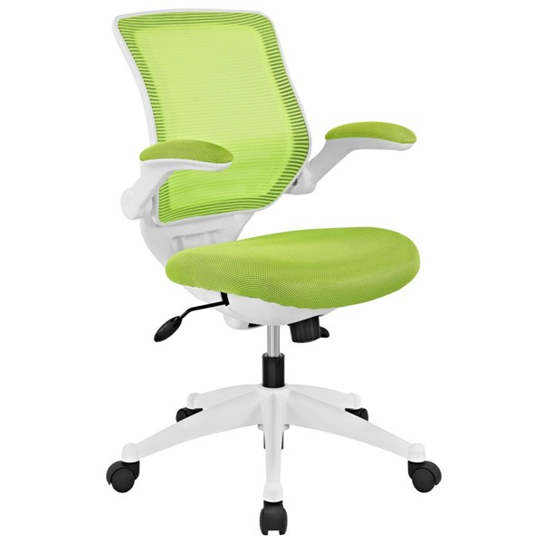 Edge Green Mesh Wood Adjustable Height Office Chair EEI-596-GRN
