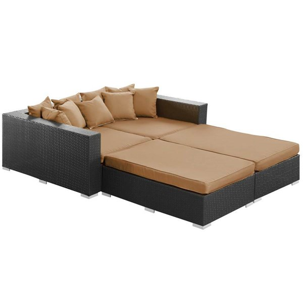 Synthetic Rattan Weave With Cushion Palisades Daybed EEI-613 EEI-613