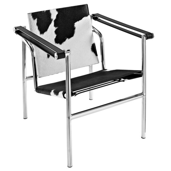 Leather With Stainless Steel Frame LC1 Lounge Chairs EEI-633