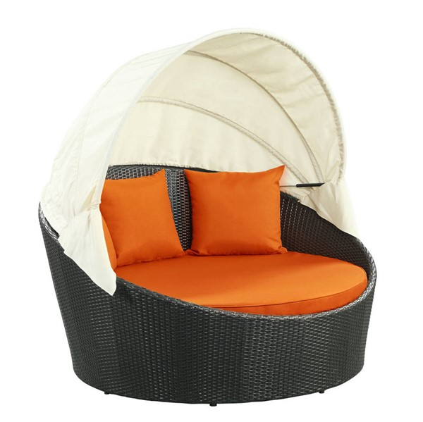 Modway Furniture Siesta Orange Outdoor Patio Canopy Daybed EEI-642-EXP-ORA