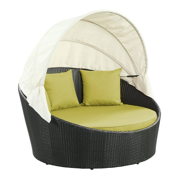 Modway Furniture Siesta Peridot Outdoor Patio Canopy Daybed EEI-642-EXP-PER