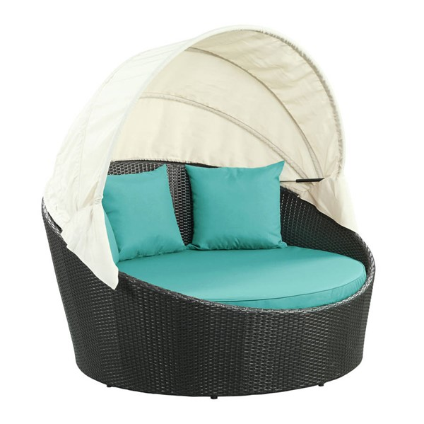 Modway Furniture Siesta Turquoise Outdoor Patio Canopy Daybed EEI-642-EXP-TRQ
