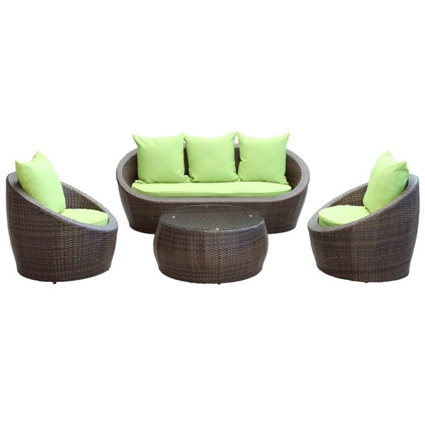 Synthetic Rattan Weave With Sponge-Cushion Avo Sofa Set EEI-643