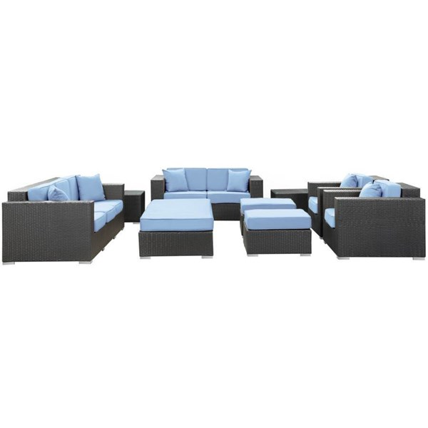 Synthetic Rattan Weave With Cushion Eclipse 9Pc Sofa Set EEI-647 EEI-647