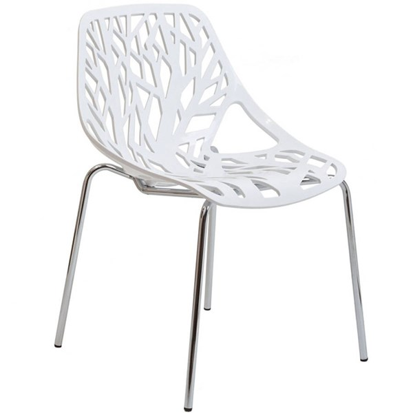Modway Furniture Stencil White Dining Side Chair EEI-651-WHI