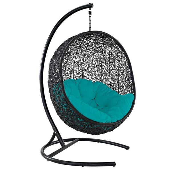 Modway Furniture Encase Turquoise Swing Outdoor Patio Lounge Chair EEI-739-TRQ-SET