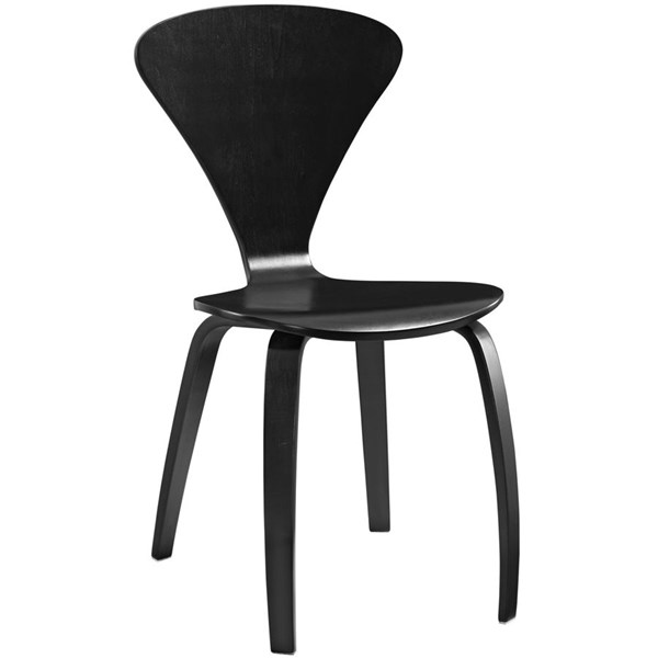 Vortex Black Wood Solid Seat Dining Side Chairs EEI-808-DR-CH-VAR