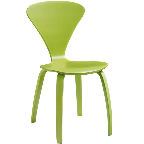 Vortex Green Wood Solid Seat Dining Side Chair EEI-808-GRN
