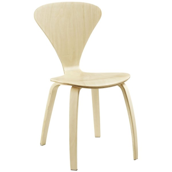 Vortex Natural Wood Solid Seat Dining Side Chair EEI-808-NAT