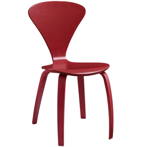 Vortex Red Wood Solid Seat Dining Side Chair EEI-808-RED