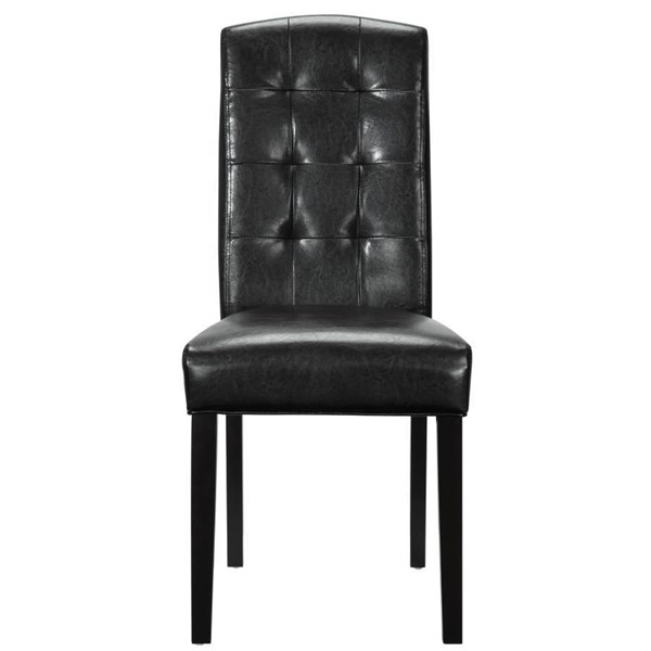 Perdure Modern Black Vinyl Wood Dining Chair EEI-811-BLK