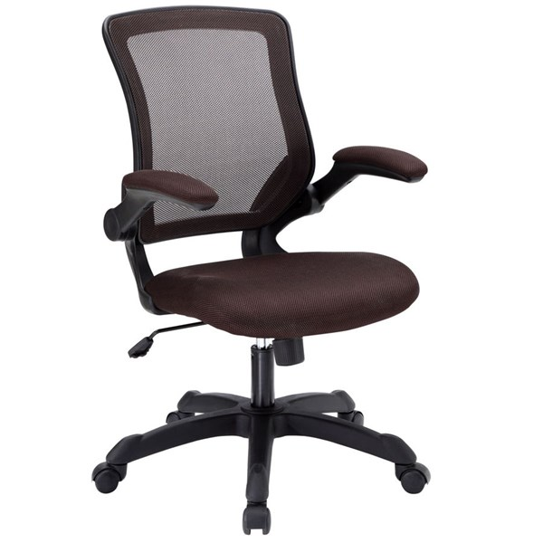 Veer Brown Mesh Wood Tilt Function Office Chair EEI-825-BRN