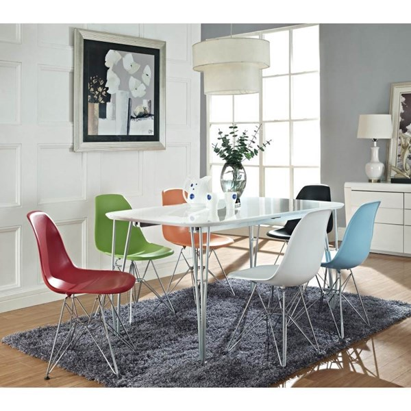 White Red Green Abs Plastic W/Chrome Simplicity Dinette Set EEI-856-220
