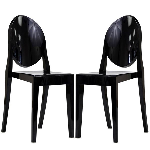 Casper Contemporary Polycarbonate Armless Dinette Chairs EEI-906