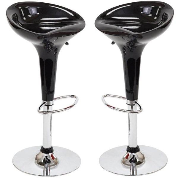 Ice Cream Fiberglass Chrome Footrest Bar Stools EEI-916