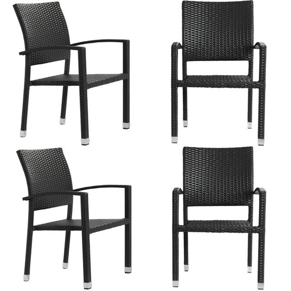 4 Synthetic Rattan Weave & Plywood Bella Dining Chairs EEI-939