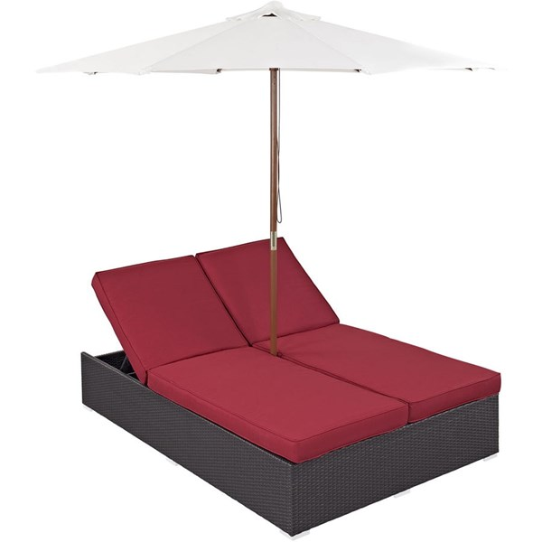Modway Furniture Arrival Espresso Red Outdoor Patio Chaise EEI-980-EXP-RED