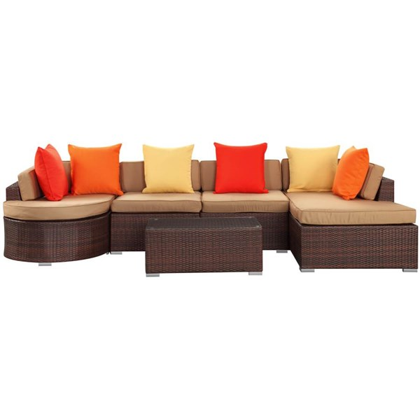 Synthetic Rattan Weave With Cushion 5pc Sectional Set EEI-987 EEI-987
