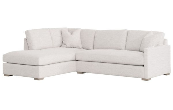 Essentials For Living Clara Stone Basketweave Natural Gray Slim LAF Sectional EFL-6620-LF-STO-BSK-NG