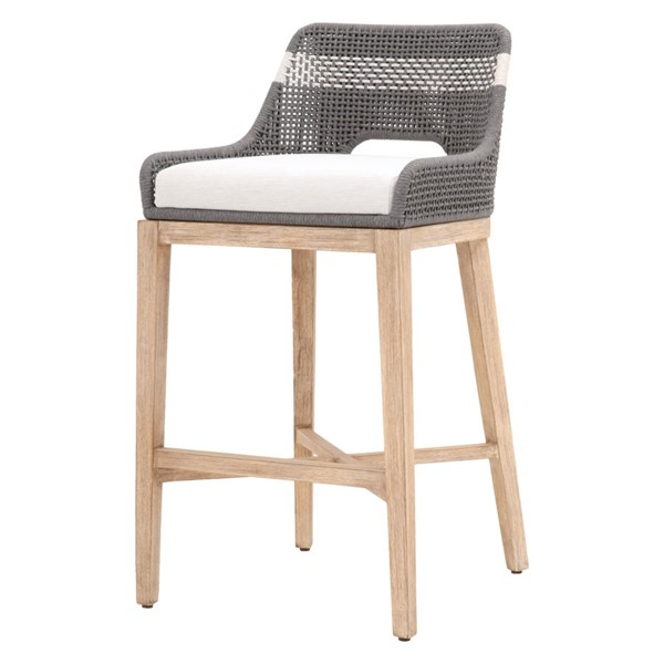 Essentials For Living Tapestry Dove White Speckle Natural Gray Bar Stool EFL-6850BS-DOV-WHT-NG