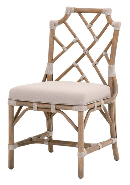 2 Essentials For Living Bayview Taupe White Gray Dining Chairs EFL-6840-OGR-PUM-WTA