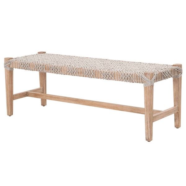 Essentials For Living Costa Taupe White Bench EFL-6848-WTA-NG