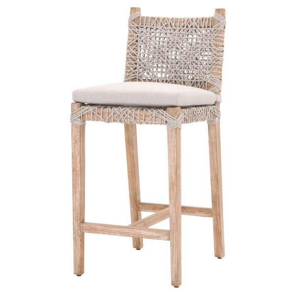 Essentials For Living Costa Taupe White Pumice Counter Stool EFL-6849CSBK-WTA-PUM-NG