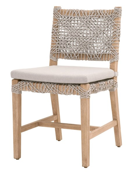2 Essentials For Living Costa Taupe White Pumice Dining Chairs EFL-6849-WTA-PUM-NG